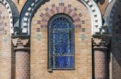 Arched window of the Church of the Savior on Spilled Blood — Stock Photo