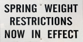 Weight Restriction Highway Sign — Stock Photo