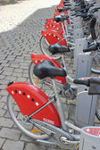 Bicycle sharing system - Lyon France — Stock Photo