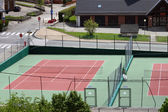 Two tennis courts — Stock Photo