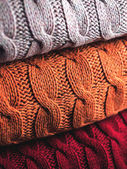 Folded wool in three colours — Stock Photo