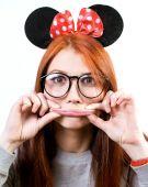 Funny portrait of attractive happy girl — Stock Photo