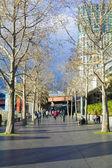 Southbank Melbourne günbatımı insanlar — Stok fotoğraf