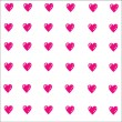 Vector background to Valentine's Day with red hearts — Stock Photo #74530361