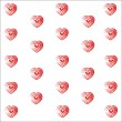 Heart valentine vector white background — Stock Photo #75137137