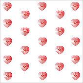Heart valentine vector white background — Stock Photo