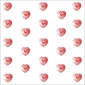 Heart valentine vector white background — Stock Vector