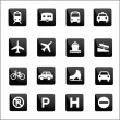 Simple vehicle and transport icons sign symbol Vector illustration — Stock Vector #77646256