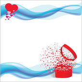 Vector heart white background for Valentine Day — Stock Vector