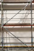 Metal scaffold for house building — Stock Photo