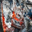 Embers of a self-made campfire — Stock Photo #78386662