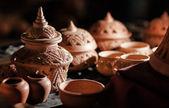 Глиняная посуда ручной работы — Стоковое фото