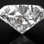 Perfect diamond isolated on black — Stock Photo #72811111