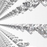 Perfect diamonds isolated on white — Stock Photo #72811815