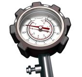 Pressure Gauge isolated On White — Stock Photo