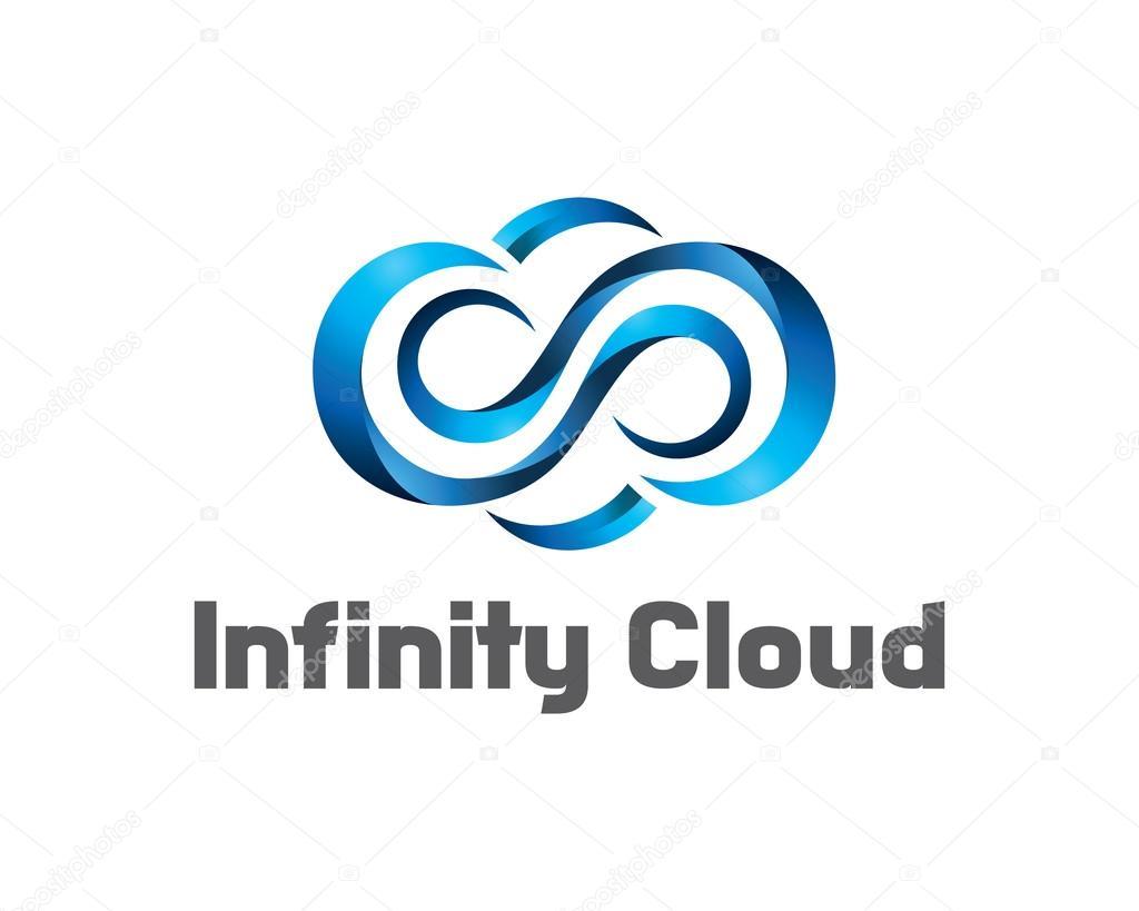 Infinity Cloud Logo Design Vector Cloud Logo Template 3d