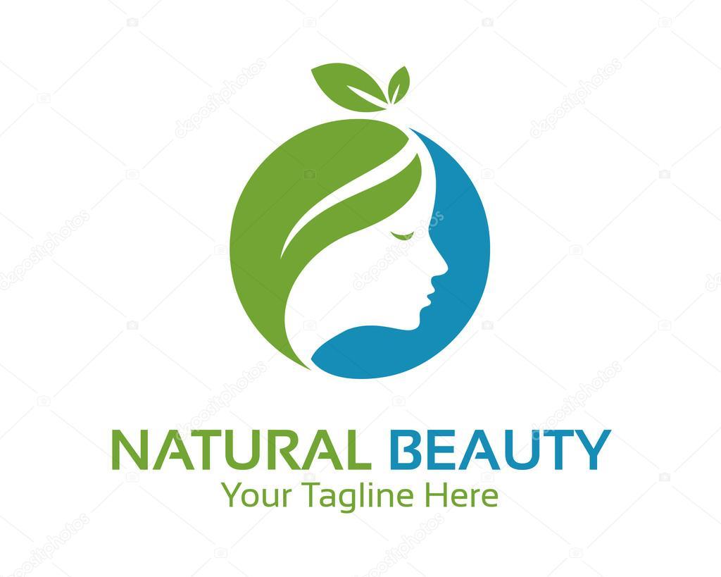 natural beauty logo design vector � stock vector