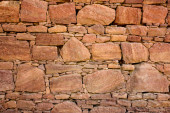 Interlocking Dry-stones Wall Background — Stock Photo