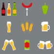Постер, плакат: Isolated beer icons set Beer icons collection