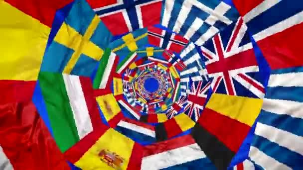 Флаги стран Европы (Видео урок)