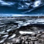 Glacier lake in winter — Stock Photo #76593325