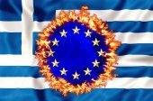 Greek economy disaster — Stock Photo