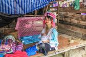 Padaung tribe long-necked — Stock Photo