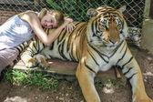 Woman tiger — Stock Photo