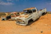 Desert Cars wreck — Stock Photo