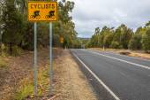 Cyclists road sign — Stock Photo