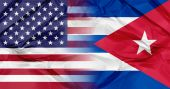 Cuba and USA flags — Stock Photo