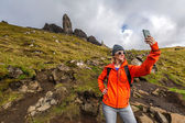 Selfie at Old Man of Storr — Stock Photo