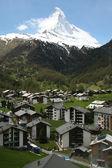 Matterhorn and Zermatt — Stock Photo