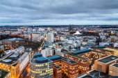 Panorama of Berlin at evening — Стоковое фото