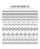Vector lines, border divides set — Stock Vector