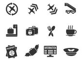 Airport icons — Stock Vector