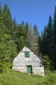 Mountain Hut In Durmitor National Park, Montenegro — Stock Photo