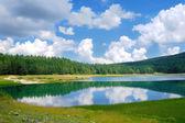 Black Lake In Durmitor National Park, Montenegro — Stock Photo