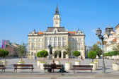 Main Square And City Hall Of Novi Sad, Serbia — Stock Photo