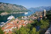 Widok zatoki Kotor, Czarnogóra — Zdjęcie stockowe