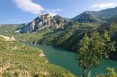 Koman-Fierza Lake, Albania — Stock Photo