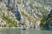 Small Boat On Koman-Fierza Lake, Albania — Stock Photo