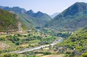 Idyll Valley Of Kiri River Near Drisht, Albania — ストック写真