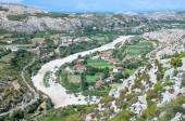 Idyll Valley Of Kiri River Near Drisht, Albania — Stock Photo