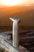 Sunset On Ruins Of Ancient Byllis, Albania — Stock Photo