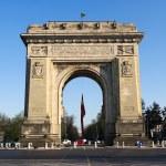 Triumph Arch In Bucharest, Romania — Stock Photo #74015609