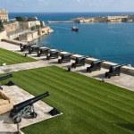 Saluting Battery And Grand Harbor Of Valletta, Malta — Stock Photo #74019457