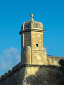 Watchtower Against Blue Sky in Valletta — Stock Photo