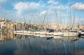 Sailboats Moored In Senglea Marina, Valletta  — Stock Photo