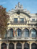 Palazzo della autorità Port di Barcellona, Spagna — Foto Stock